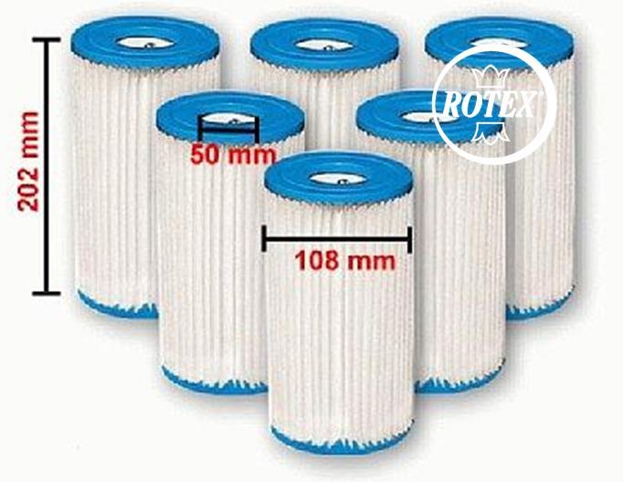 Rotex intex filtro cartuccia modello a 59900 per pompa for Filtro piscina intex