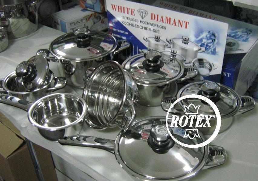 Rotex batteria di pentole 12 pz per cucina induzione - Pentole per cucine a induzione ...