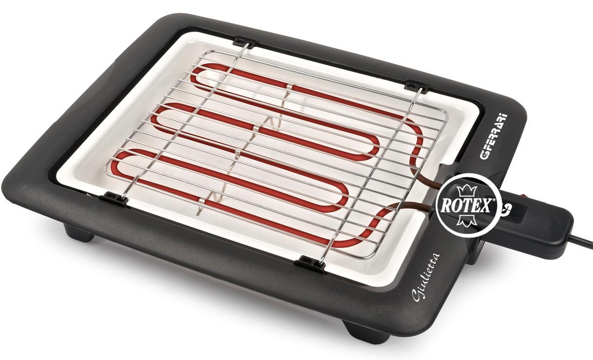 Rotex g3ferrari giulietta barbecue grill bistecchiera for Bistecchiera elettrica