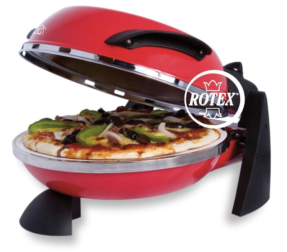 Rotex forno pizza maker elettrico pietra oven 1200 watt ebay - Forno elettrico per pizze ...