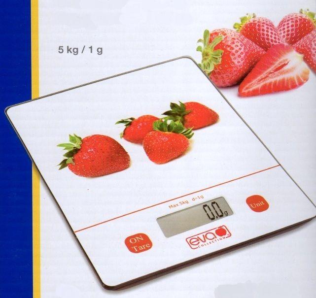 Rotex Bilancia Elettronica da Cucina Eva 5 Kg DIV 1 Gr alta precisione Fragole