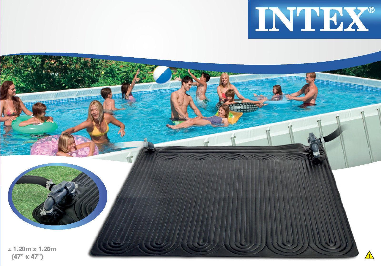 Tappeto pannello solare riscaldamento acqua piscina intex 28685 cm 120x120 rotex ebay - Acqua orecchie piscina ...