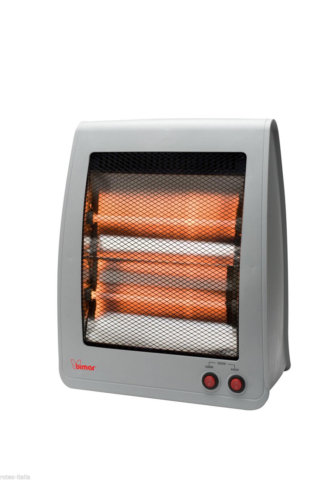 Stufa elettrica a infrarossi bimar stufetta resistenza al for Stufa catalitica o infrarossi