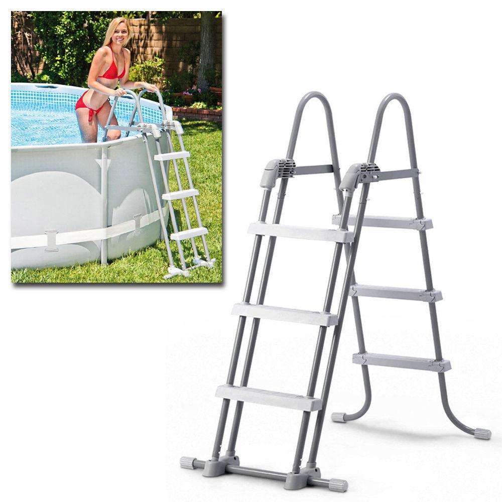 Scaletta per piscina fuoriterra intex 28075 scala h 91 107 - Scaletta per piscina fuori terra ...